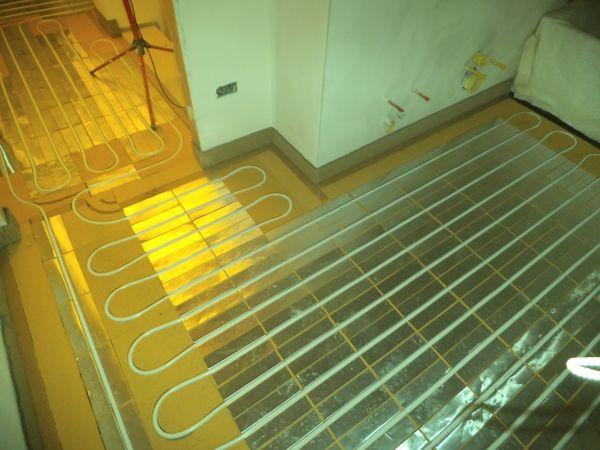 Immagine 1 - impianto radiante a pavimento con sistema a secco