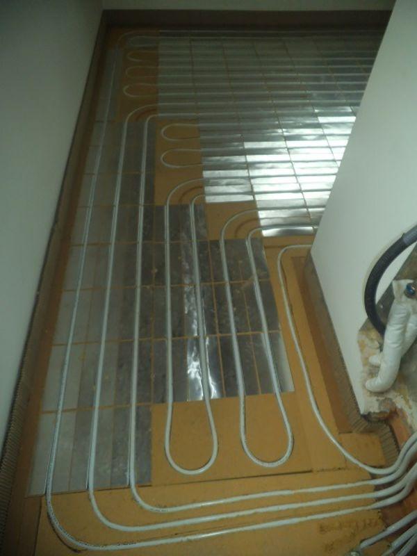 Immagine 3 - impianto radiante a pavimento con sistema a secco