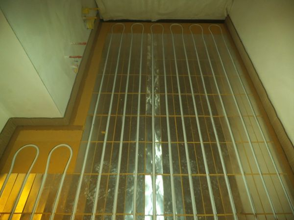Immagine 7 - impianto radiante a pavimento con sistema a secco